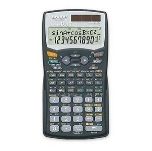 1984 Sharp Scientific Calculator EL-506H w/box, booklet, case & protector sleeve