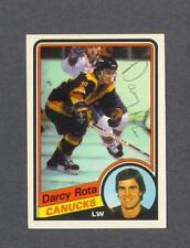 Darcy Rota signed Vancouver Canucks 1984-85 Opee Chee hockey card