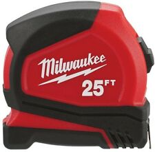 Milwaukee Compact Tape Measure 25 ft. Nylon Bond Blade Protection Belt Clip