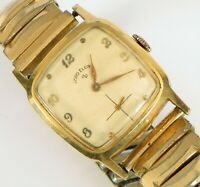 VINTAGE LORD ELGIN GOLD FILLED WRISTWATCH RUNNING WELL 680 21 JEWEL CLEAN !