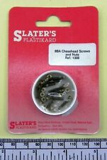 "8ba x 1/2"" brass cheesehead screw with nut - pack of 10 - Slater's ref: 1308"
