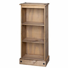 Premium Quality Corona Waxed Solid Mexican Pine Low Narrow Bookcase Display Unit