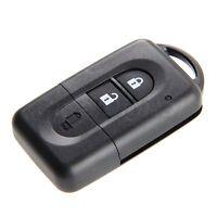 Remote Key Shell Case For Nissan Micra Xtrail Qashqai Juke Duke 2 Button Replace