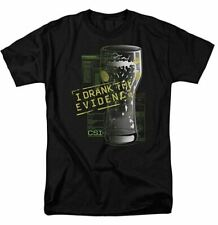 Trevco Men's CSI Short Sleeve T-Shirt, Drank Black, Medium