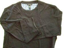 Ms8 Club Room Men's Sleepwear Pajama Pj Crew Long Sleeve Top Shirt Navy L