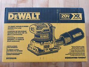 DEWALT XR 20-Volt Brushless Cordless Sheet Sander DCW200B BARE TOOL - NEW IN BOX