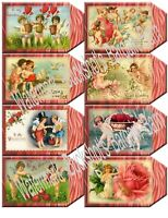 Set of 16 Valentines-Gift/Hang Tags-Scrapbook's-Cards Paper Craft