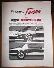 1988 Chev Camaro Z28 Pontiac Firebird T/A Serivce Maintenance Guide Manual OEM