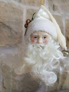 VINTAGE 1960's SANTA FATHER CHRISTMAS CERAMIC BAUBLE ORNAMENT BEAUTIFUL ITEM