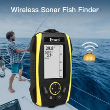 "Eyoyo 2.4"" Wireless Sonar Sunlight Readable Fish Finder Alarm 125KHz for River"