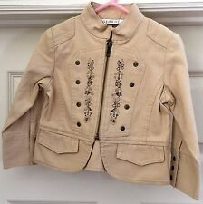 George Khaki jacket with zipper & embroidered flowers size 24 months!!!