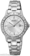 Seiko Three-Hand Silver-Tone Stainless Steel Women's Watch SUR853