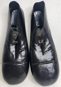 Vintage Rubies black Jumbo Plastic Clown Costume Shoes Adult #741 1978 J11