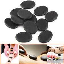 12pcs HOT STONE MASSAGE Basalt Stones Relaxing Spa Treatment at Home 3x4cm
