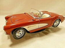 Burago diecast 1/18 Red Rust Chevrolet Corvette 1957 with stand