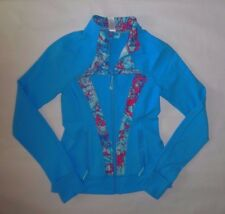 IVIVVA BY LULULEMON GIRLS PERFECT YOUR PRACTICE JACKET BLUE DANCE GYM EUC 12