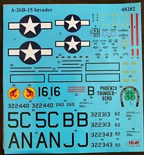 1/48 ICM kit decals for A-26B-15 Invader