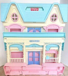 🌈1993 Fisher Price Loving Family Folding Dream Dollhouse Vintage 6364