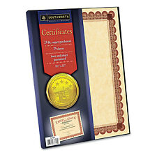 Southworth Parchment Certificates Copper w/Red & Brown Border 24 lbs 8-1/2 x 11