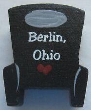 Berlin Ohio 3D Amish Buggy Fridge Magnet Black Wood Replica