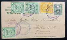 1909 Villa Rica Paraguay Postcard Cover To Berlin Germany H&G9