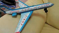 VINTAGE IL 62 FRICTION TIN TOY AIRPLANE AIRCRAFT USSR SOVIET ERA AEROFLOT CCCP