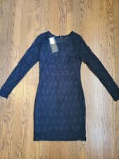 Bebe Lace Black Long Sleeve Dress Size Small