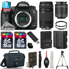 Canon EOS 7D Mark II DSLR Camera + 18-55mm + 75-300mm + EXT BATT + 3yr Warranty