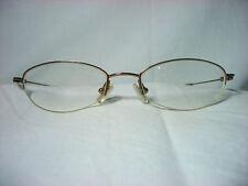 Coach 23kt gold plated Titanium half rim oval women's eyeglasses frames vintage