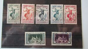 CAMBODIA KHMER STAMPS SCOTT 1-5,7, AND 9 MINT AND USED