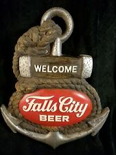 Vintage Falls City Beer Advertising Store Display Sign 3D Anchor