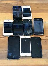 Apple iphone job lot mix bulk x 9 parts spares Iphone 6 5S 4S 3G See Description