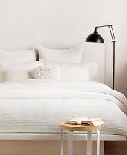DKNY City Pleat WHITE Full Queen Duvet / Comforter Cover $175
