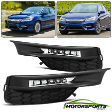 For 2016-2017 Honda Accord Sedan LED DRL Bumper Fog lights Set 2017 w/Wiring Kit