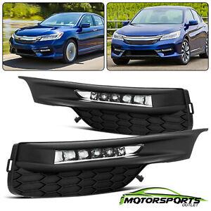 For 2016-2017 Honda Accord Sedan LED DRL Bumper Fog lights Set 2017 w/Wiring Kit