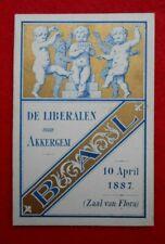 Programme-Souvenir -Bal 1887- De Liberalen van Akkergem
