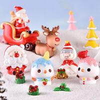 DIY Miniature Christmas Garden Ornament Decor Pot Craft Dollhouse Accessor jv
