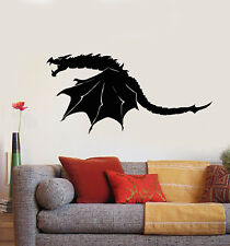 Vinyl Wall Decal Scary Dragon Wings Fantasy Monster Stickers (1675ig)
