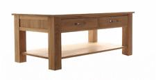 Mobel Solid Oak Wooden Living Room Furniture 4 Drawer Large Coffee Side Table