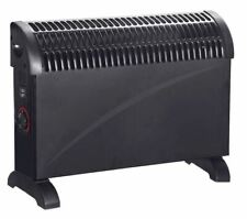 New Convector Heater Black Portable Freestanding Thermostat 750/1250/2000W