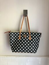 Dooney & Bourke Blue and White Polka Dot Bag Purse Tote Extra Large