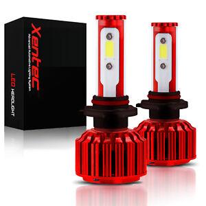 120W 12800LM 4 sides LED H7 Headlight 6000K HID White bulbs Pair Kit