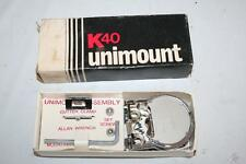 K40 Unimount U40 Mirror Mount for CB Radio Antenna Chrome Plated  Made in USA