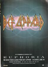 DEF LEPPARD Euphoria 1999 UK magazine ADVERT/Poster/clipping 11x8 inches