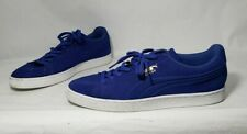 Puma Suede Classic Debossed Q3 Men's Blue Lace Up Casual Sneakers Size 13