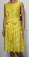 New Tommy Hilfiger Elegant Sleeveless Dress Lemon Yellow, Size 14, MSRP $129