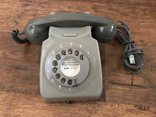 More details for vintage gpo/bt 706l rotary dial telephone - v rare arabic version converted mint