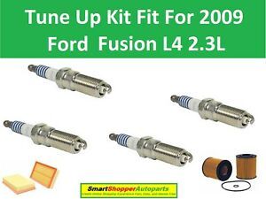 Motorcraft Spark Plugs, Air, Oil Filter Fit for Tune Up 2009 Ford Fusion L4 2.3L