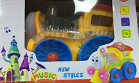 TRAIN WITH FLASHING LIGHTS AND MUSIC SOUND TODDLER TOYS BUMP AND GO CHRISTMAS