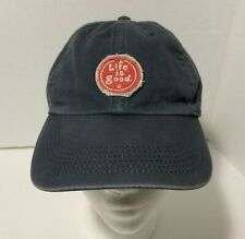 Life is Good Red Distressed Logo Adult Gray Baseball Cap Hat